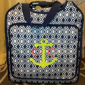 Thirty-One Rolling Tote (Navy Perfect Pendant)